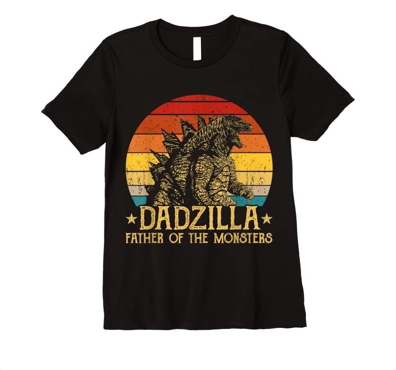 Buy Dadzilla Father Of The Monsters Retro Vintage Sunset T Shirts