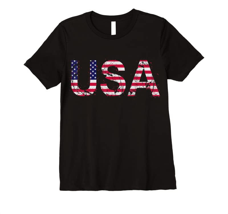 Buy Now Vintage Usa Flag Patriotic Women Men 4th Of July T Shirts