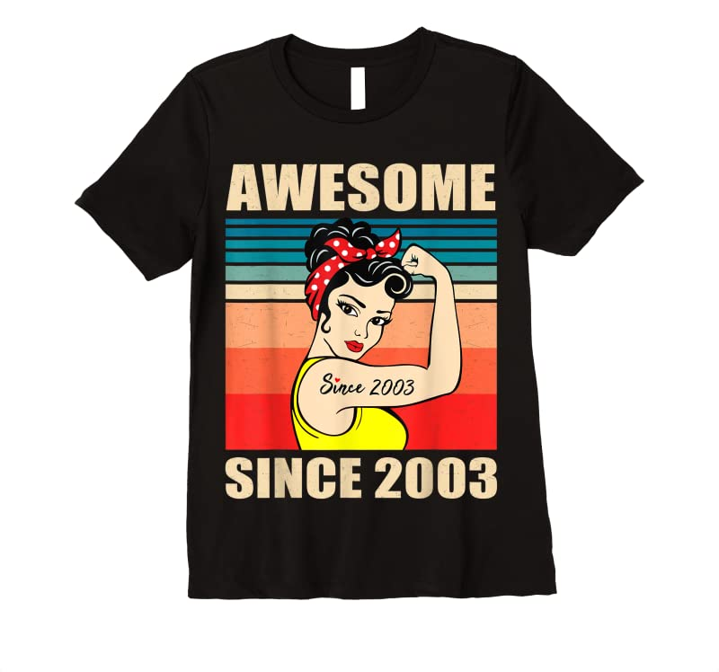 Cool Gift For 18 Year Old Women Vintage 18th Birthday 2003 Woman T Shirts