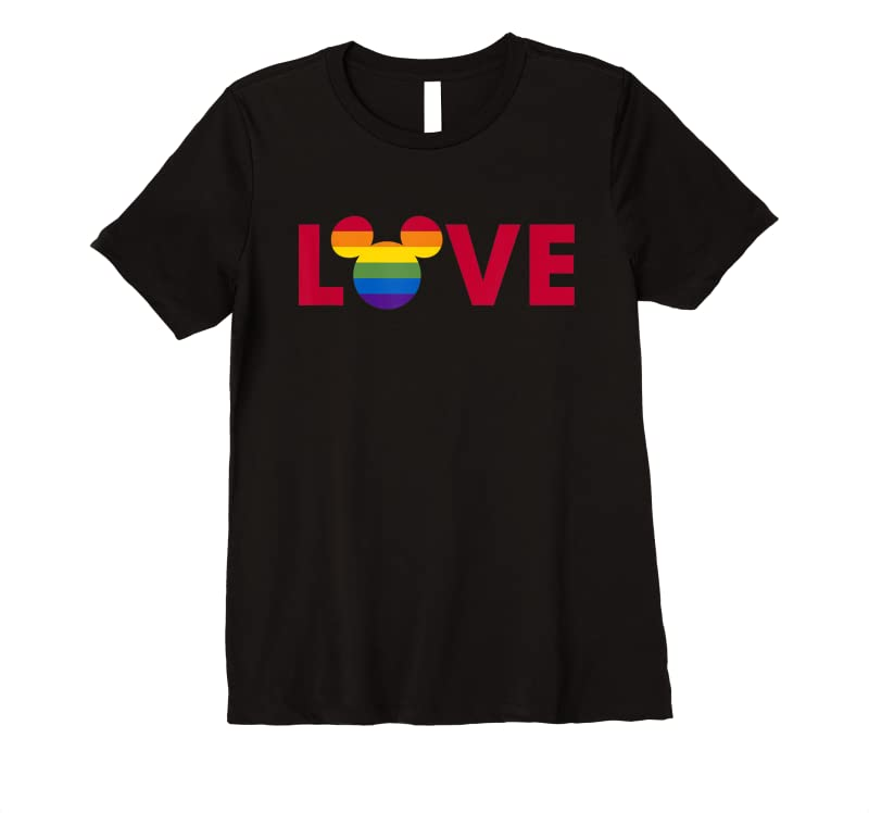 Disney Mickey Mouse Loves Pride Art Fill T Shirts