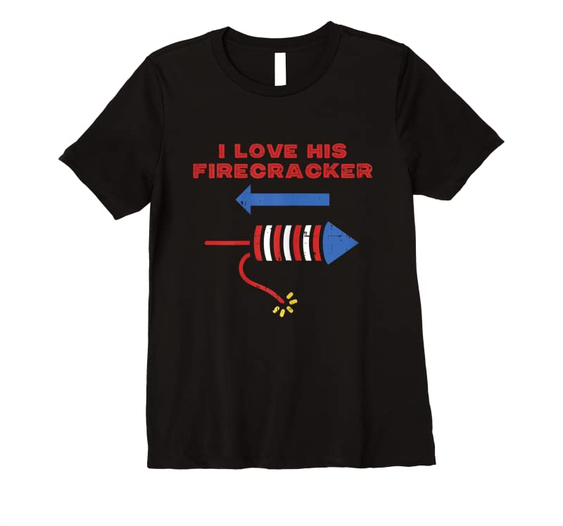 Order Now Womens Love His Firecracker Matching Couple 4th Of July Girlfriend T Shirts