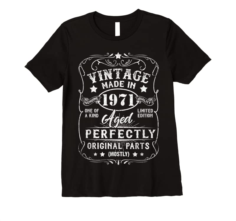 Order Vintage Made In 1971 Retro Classic 50th Birthday Decorations T Shirts