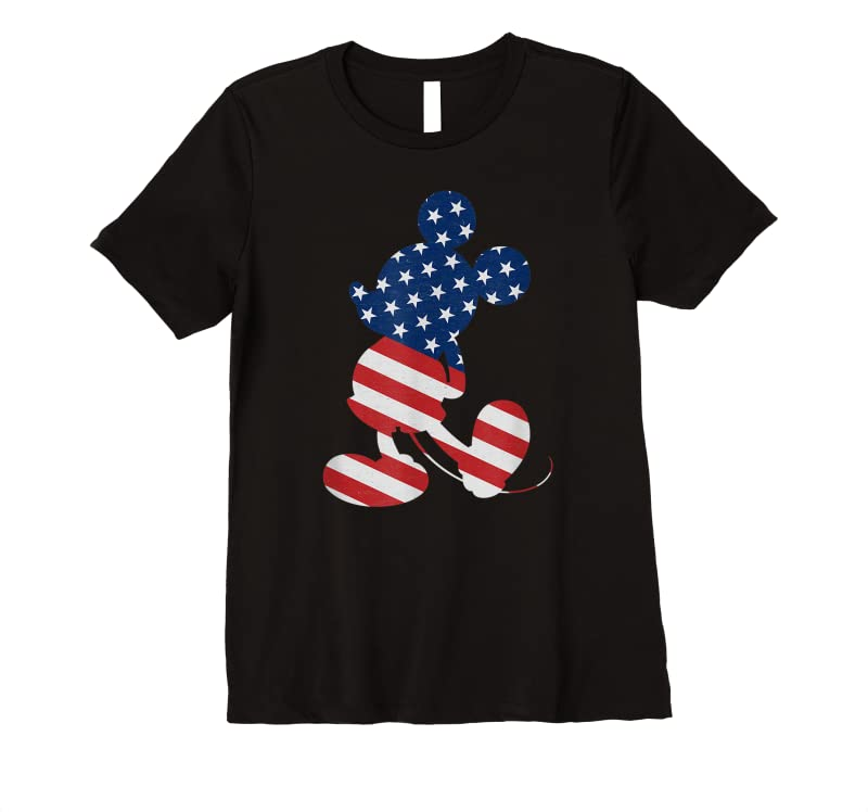 Perfect Disney Mickey Mouse American Flag Usa T Shirts