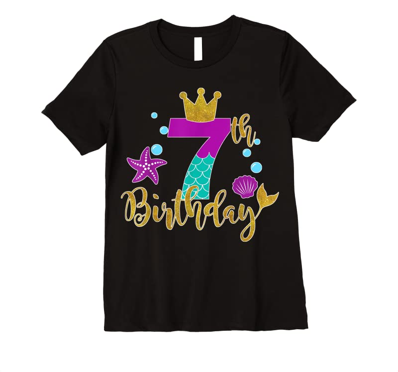 Trends Birthday Mermaid For 7 Years Old Tee Gift For Girls T Shirts