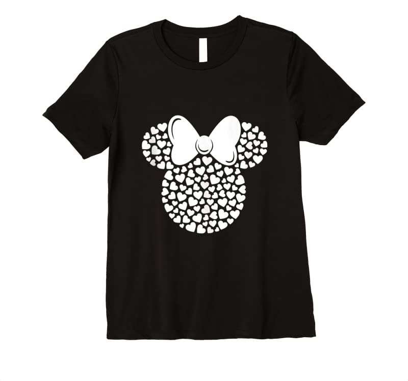 Unisex Disney Minnie Mouse Icon Filled With White Hearts Tank Top T Shirts